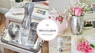 Mirror spray paint DIY, Mercury glass effect