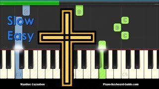 How Great Thou Art Slow Easy Beginners Piano Keyboard Tutorial
