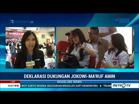 Garda Relawan Jokowi Deklarasikan Dukungan untuk Jokowi-Ma'ruf
