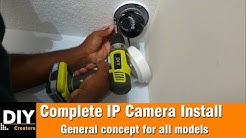 How to install a IP camera
