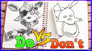Drawing Five Nights At Freddy s In 1 Minute CHALLENGE