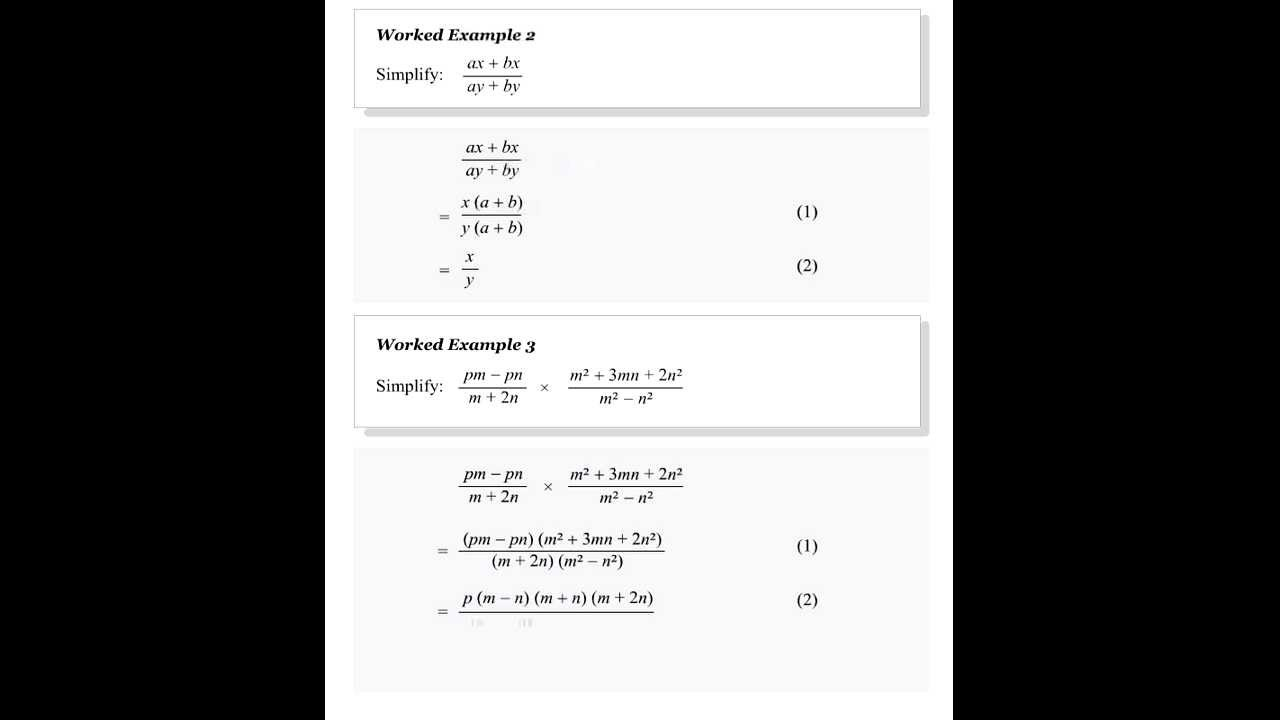 Algebraic Fractions Divide And Multiply Free Gcse Maths Lessons