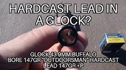 Can you shoot hard cast lead in a glock?  147gr +P Buffalo Bore Hardcast Lead 9mm G43