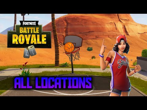 """Score A 3 Point Shot At Different Basketball Courts"" All Locations - Fortnite Week 2 Challenges"