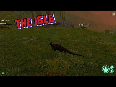 THE ISLE - Дилофозавр лицезреет суицид Гигантозавра!