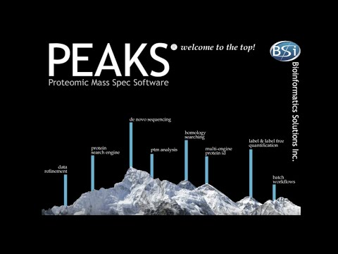 PEAKS: Proteomic Mass Spectrometry Software - Overview