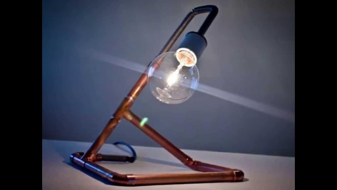 Eccezionale Fare luci tubo di rame e lampade - YouTube UU89