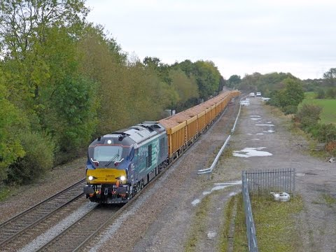 Freight trains in the East Midlands - 14th October 2014