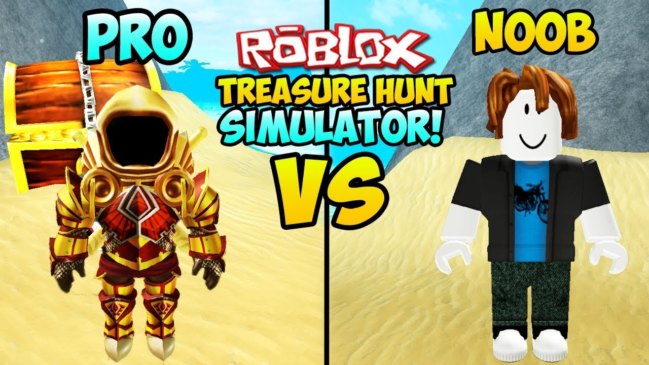 Roblox Treasure Hunt Simulator Videos - Noob Vs Pro In Roblox Treasure Hunt Simulator Roblox Treasure Hunt Pro Vs Noob Roblox Money