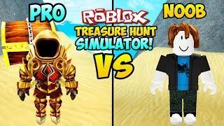 """""""NOOB VS PRO IN ROBLOX TREASURE HUNT SIMULATOR"""" (Roblox Treasure Hunt, Pro Vs Noob, Roblox Money)"""