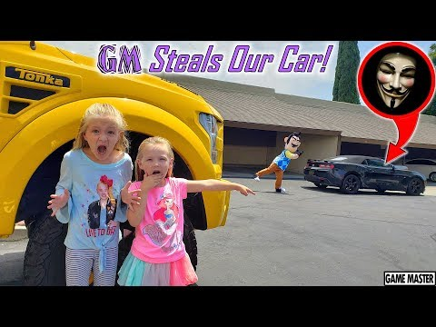 GAME MASTER Steals OUR Car From HELLO NEIGHBOR!!! Tracking the Game Master!