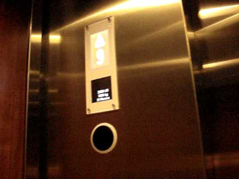 New Kone EcoDisc Traction Elevators at Embassy Suites Hotel in Downtown Houston, TX.
