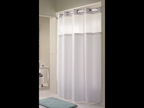 Arcs Angles Hookless Shower Curtains and Curved Shower Rods - YouTube