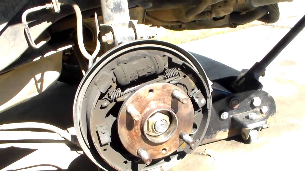 Mazda protege rear brake job youtube