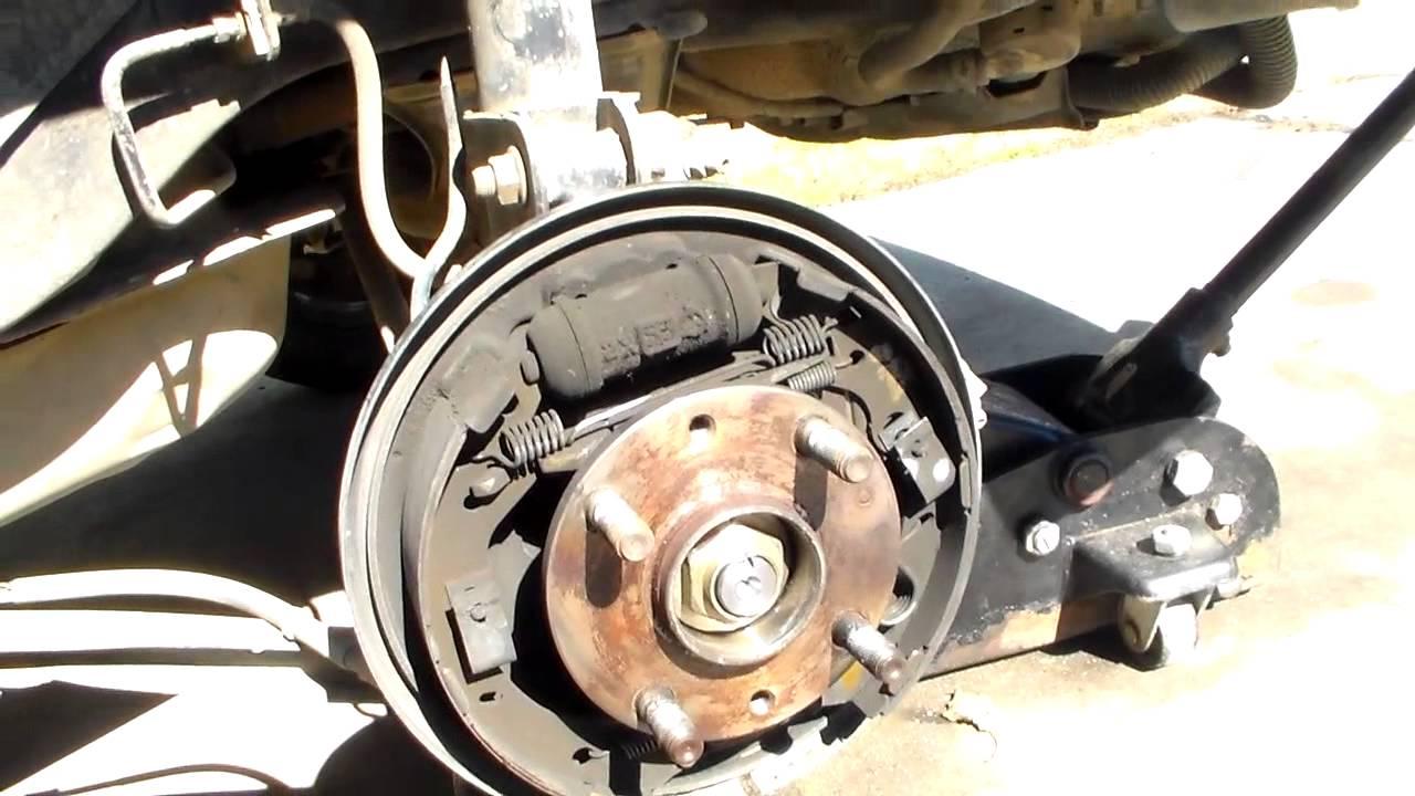 Mazda Protege rear brake job  YouTube