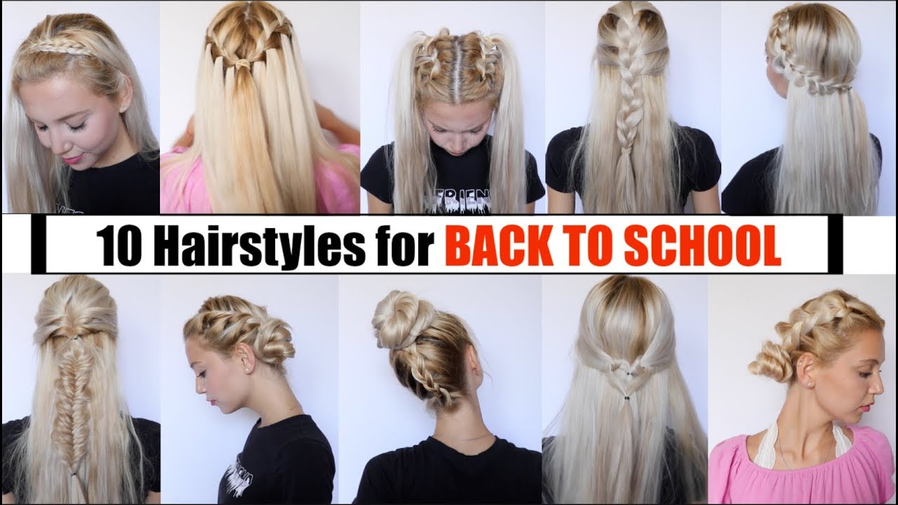 10 cute & easy back to school hairstyles 2018 - youtube