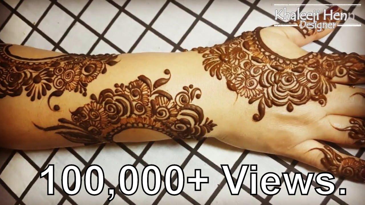 Full Hand Arabic Henna | Arabic Dubai Henna Design| Step By Step||Khaleeji Henna Designer - YouTube