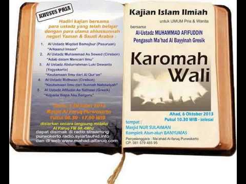 ilmoe.com DAUROH BANYUMAS KAROMAH WALI AL USTADZ MUHAMMAD AFIFUDIN AS