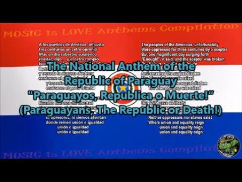 Paraguay National Anthem with music, vocal and lyrics Spanish w/English Translation