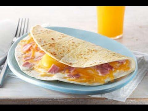 Desayuno facil y sencillo desayuno rapido de hacer y rico quesadilla de jamon queso y huevo - Desayunos en casa ...