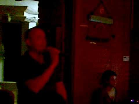 Andy Haworth in Budapest singing Gay Bar