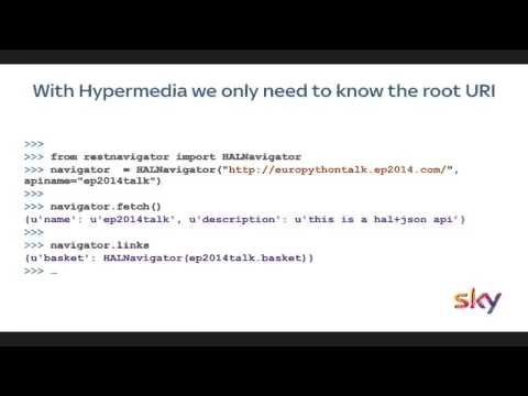 Cutting-edge APIs using hypermedia at BSkyB