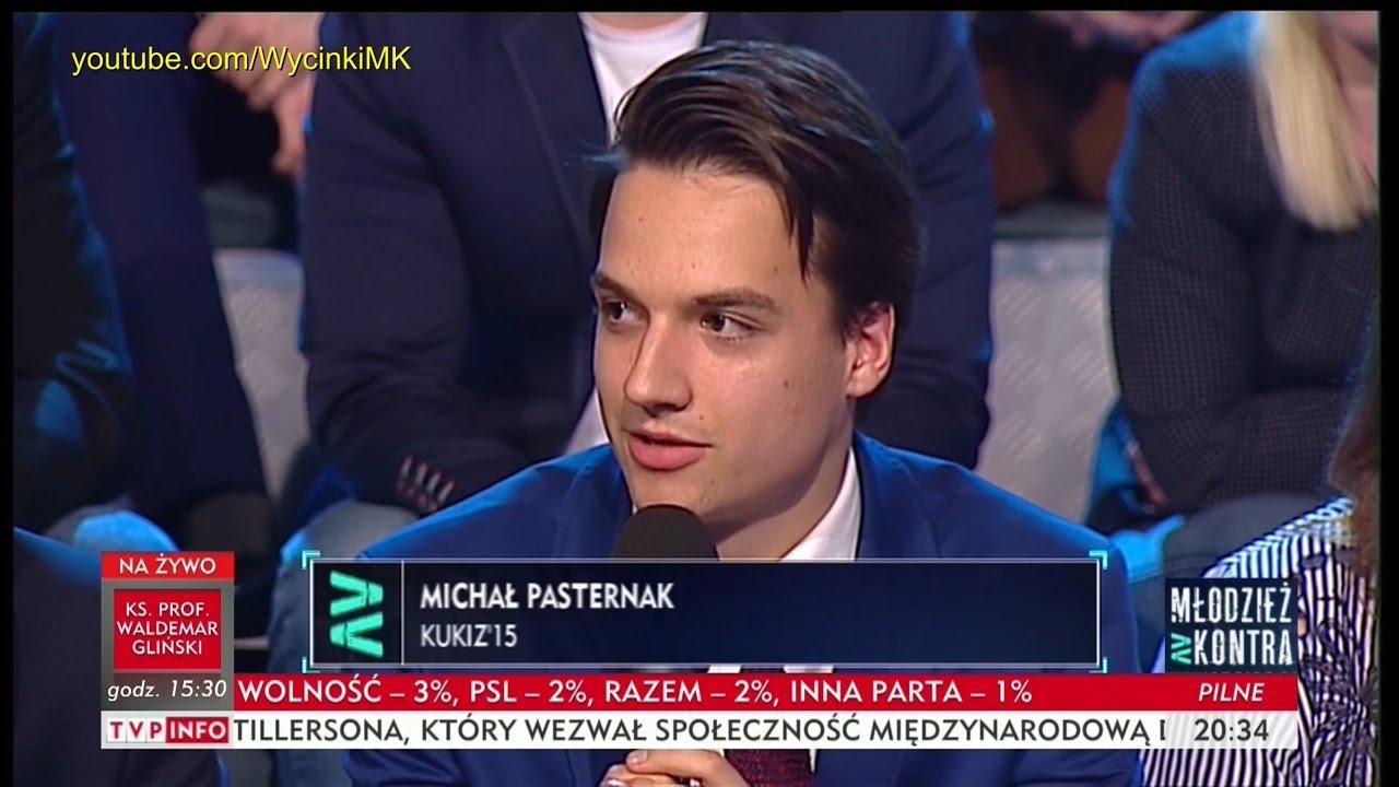 Młodzież kontra 596: Michał Pasternak (Kukiz'15) vs Katarzyna Lubnauer (Nowoczesna) 29.04.2017