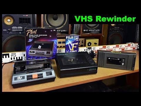 VHS video tape cassette rewinder cleaner SF-98 Plus 1, EULOSAN CW-300V, JU-80V (EN+CZ)