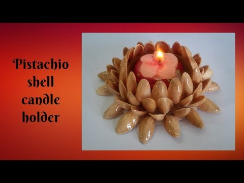 DIY Pista Shell Candle Holder using old Bangles | Best out of Waste
