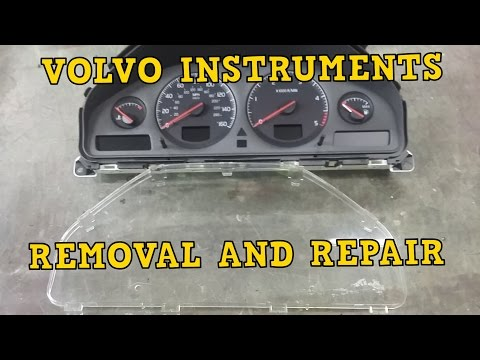 VOLVO V70 S60 DIM INSTUMENTS REMOVAL AND REPAIR