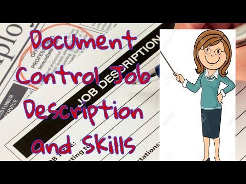 Document Controll Job Description and Skills