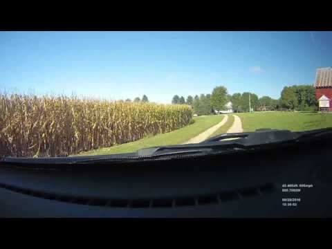 Time lapse drive Sioux Falls, SD to Davenport, IA