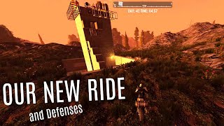 WE GET A MOTORCYCLE and A The Cement Moat - 7 Days To Die (E7) - Kinda Hardcore Mode