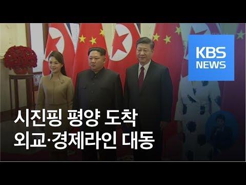 시진핑 중국 국가주석 평양 도착…'외교·경제라인' 대동 / KBS뉴스(News)