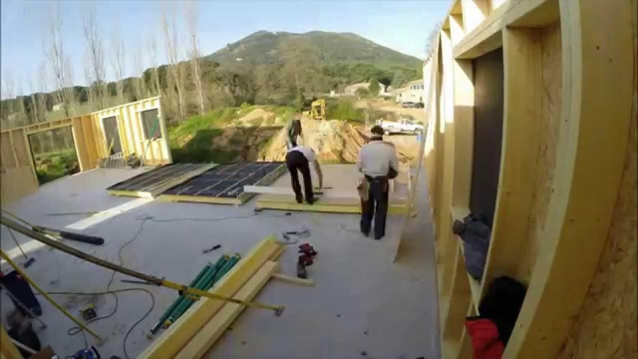 M&M Charpente  Timelapse Maison Ossature Bois Alata en Corse  YouTube
