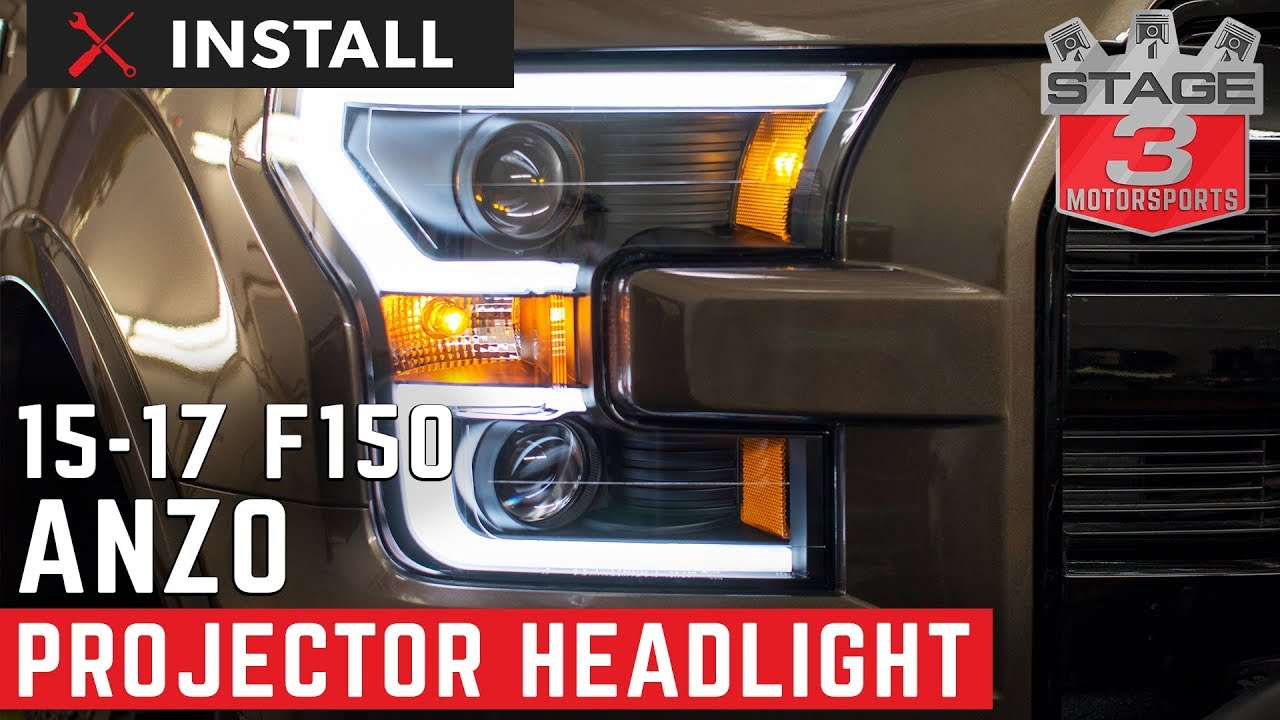 2015 2016 f 150 anzo led outline projector headlights install youtube. Black Bedroom Furniture Sets. Home Design Ideas