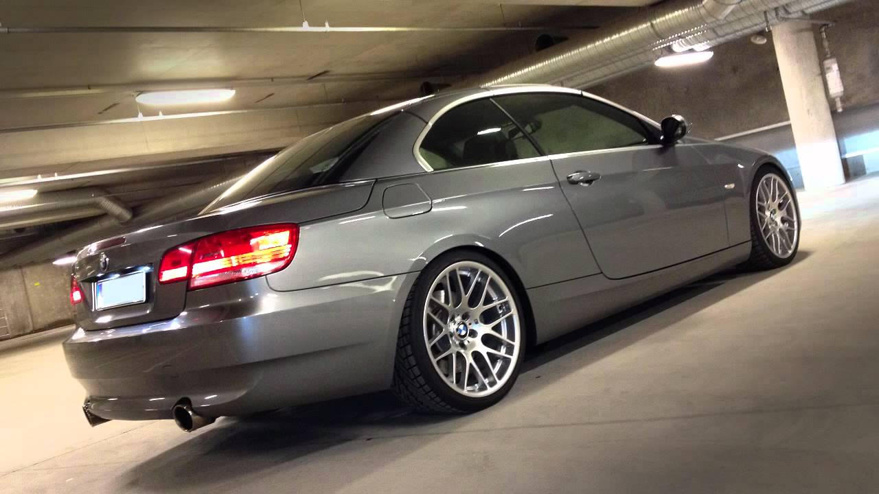 Garage Parking Stop >> BMW 335i with Akrapovic exhaust - YouTube