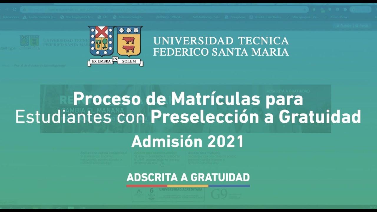 Proceso de Matrícula para Estudiantes con Preselección a Gratuidad