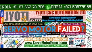 Jyoti Machine Servo  Motor Failure, Servo drive failure causes? Servo Drive Repairs,Resolver Error