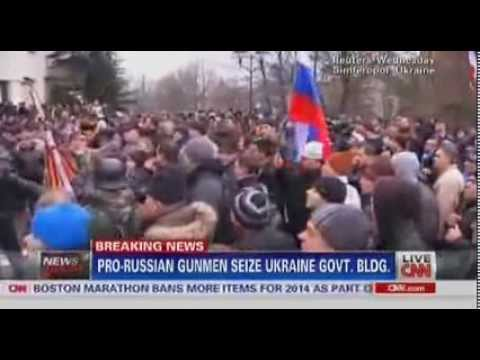 Build-Up to WW3 -  Pro Russia Gunmen Seize Ukaine Gov Building, Russian Flags Flies on Offices