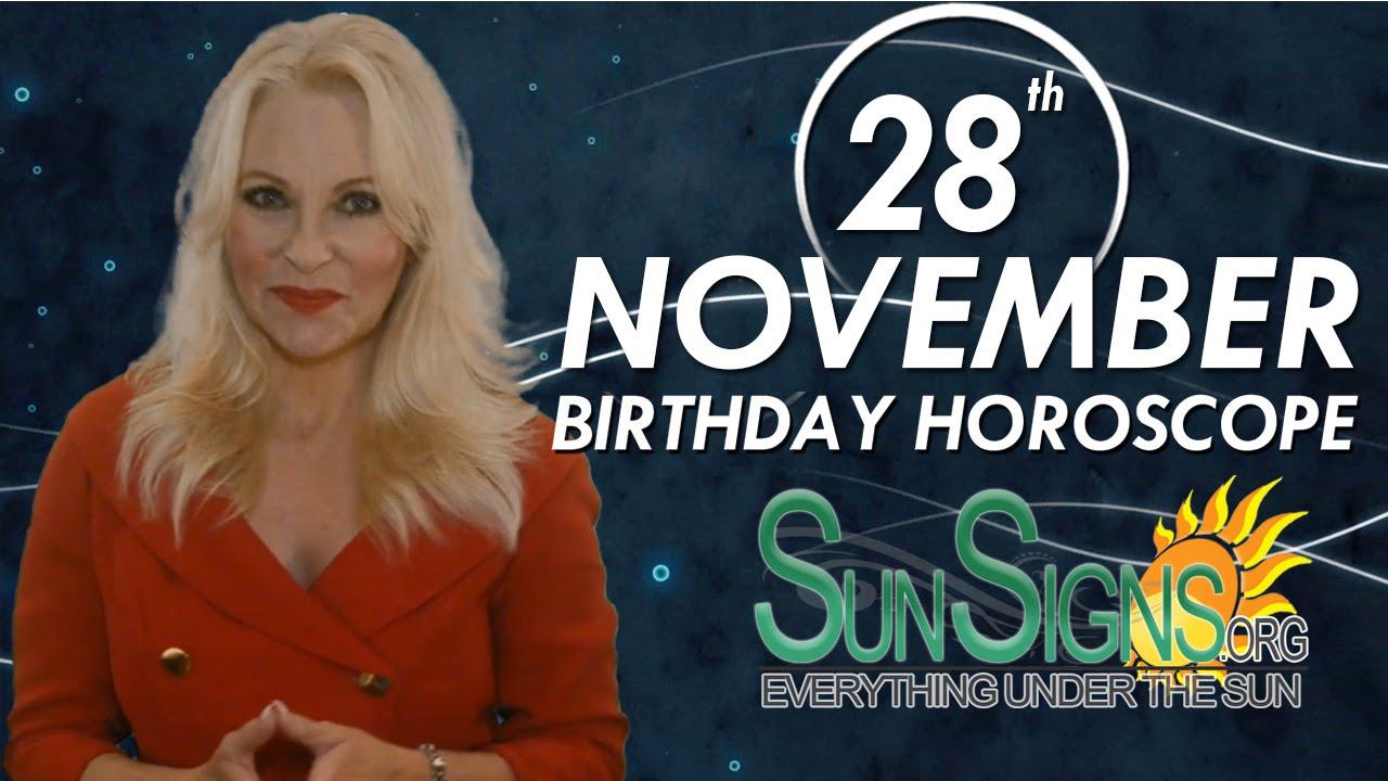 horoscope of 28 november birthday