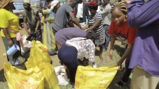 Eddy Kenzo feeds starving families in Mityaana