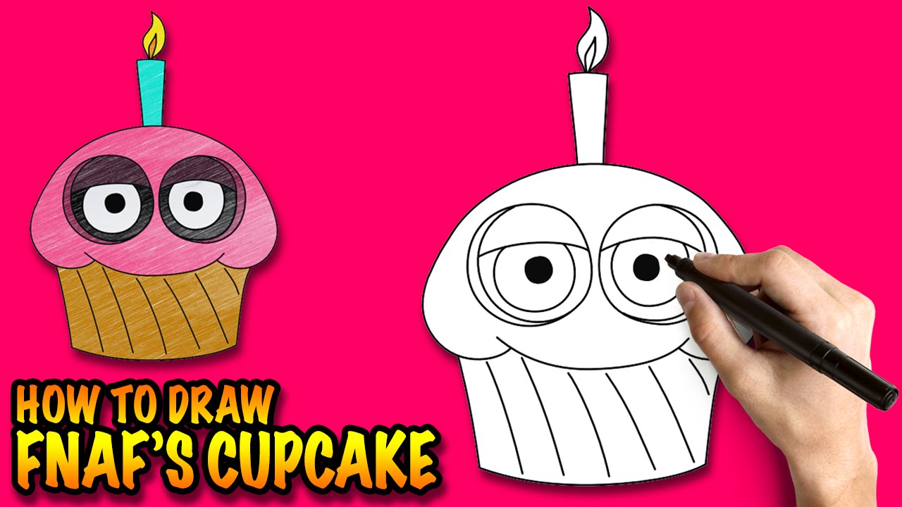 how to draw the cupcake from fnaf easy step by step drawing