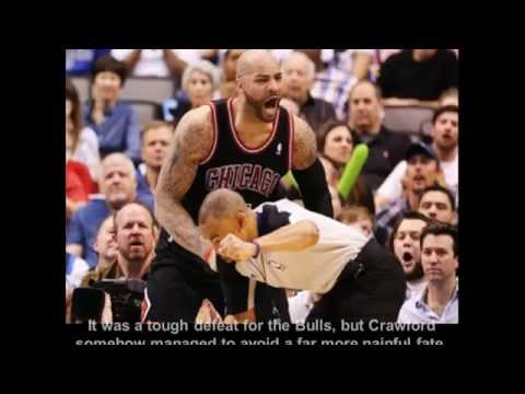 Carlos Boozer accidentally punches the referee Danny Crawford in the nuts! [HD]