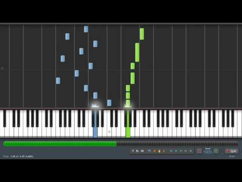 Rufus Wainwright - Hallelujah (Shrek) Piano Tutorial (100% Speed) Synthesia + Sheet Music