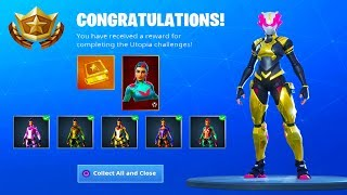 HOW TO UNLOCK ALL 8 STAGES SINGULARITY SKIN! Secret Season 9 FREE Skin! (Fortnite Battle Royale)