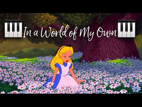 In a World of My Own Alice in Wonderland Intermediate Piano Tutorial