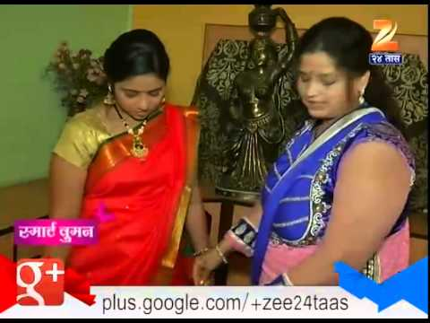 Smart Women : Guddi Padwa Traditional Wear Nauvari Saree 20th March 2015