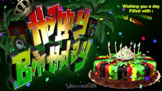 HAPPY BIRTHDAY - Reggae Party Cake