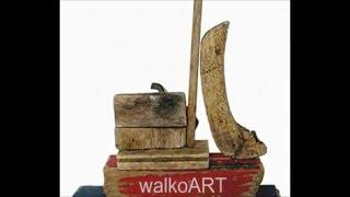 Treibholz+Treibgut,Treibholzkunst Collagen,bois flotté,driftwood art - walkoART
